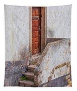 Rustic Brown Door Of Portugal Tapestry