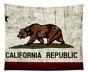 Rustic California State Flag Design Tapestry