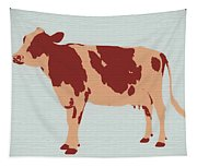 Rustic Cow Tapestry