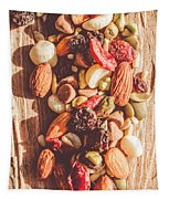 Rustic Dried Fruit And Nut Mix Tapestry