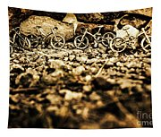 Rustic Mountain Bikes Tapestry