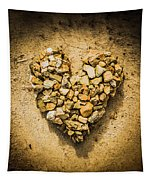 Rustic Rock Romance Tapestry