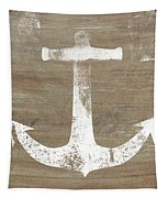 Rustic White Anchor- Art By Linda Woods Tapestry by Linda Woods