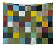 Rustic Wooden Abstract Tapestry