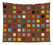 Rustic Wooden Abstract Vll Tapestry