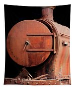 Rusty Abandoned Steam Locomotive Tapestry