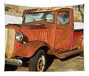 Rusty Chevrolet Pickup Truck 1934 Tapestry