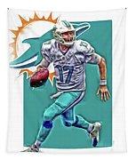 Ryan Tannehill Miami Dolphins Oil Art Tapestry