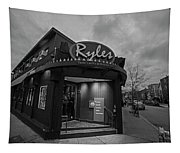 Ryles Jazz Club Cambridge Ma Inman Square Hampshire Street Black And White Tapestry