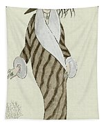 Sable Coat With White Fox Trim Tapestry