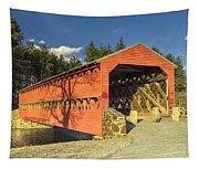 Sachs Covered Bridge Square Tapestry