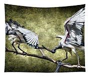 Sacred Ibis Photobombing Tapestry