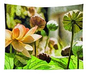 Sacred Lotus Painted Series Tapestry