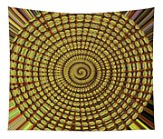 Saguaro Cactus Top Abstract #4 Tapestry