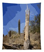 Saguaro Skeleton Tapestry