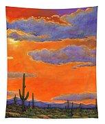 Saguaro Sunset Tapestry by Johnathan Harris