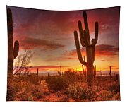 Saguaro Sunset Tapestry