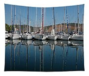 Sailboats Reflected Tapestry