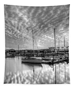 Sailer's Delight Black And White Tapestry