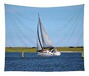 Sailing At Masonboro Island Tapestry