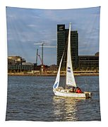 Sailing Downtown Tapestry