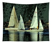 Sailing The Harbor Tapestry