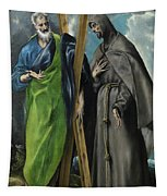 Saint Andrew And Saint Francis Tapestry