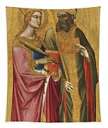 Saint Catherine And A Bishop Saint Possibly Saint Regulus Tapestry