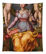 Saint Catherine Of Alexandria Crowned By Two Angels Tapestry