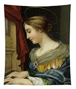 Saint Cecilia Playing The Organ Tapestry