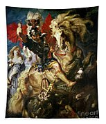 Saint George And The Dragon Tapestry