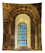 Saint Isidore - Romanesque Window With Stained Glass Tapestry