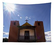 Saint Jeromes Chapel Taos Pueblo Tapestry