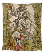 Saint John On The Island Of Patmos Receives Inspiration From God To Create The Apocalypse Tapestry