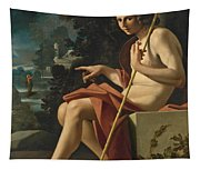 Saint John The Baptist In A Landscape Tapestry