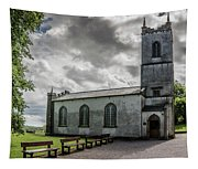 Saint Patricks Church On The Hill Of Tara Tapestry