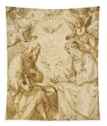 Saint Paul And Saint Stephen Crowned By Angels Tapestry