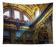 Saint Peter's Beams Of Light Tapestry