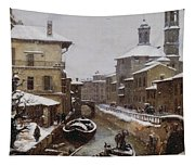 Saint Sophia Canal Covered In Snow Tapestry