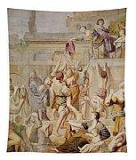 Saitn Cecilia Distributing Alms Tapestry