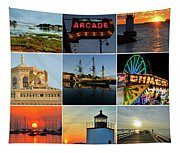 Salem Ma Nine Picture Collage Tapestry