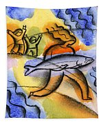 Salmon Fishing Tapestry