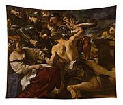 Samson Captured By The Philistines Tapestry