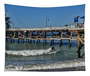San Clemente Surfing Tapestry
