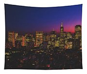 San Francisco At Sunset Tapestry