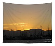 San Francisco Bay Sunset Tapestry