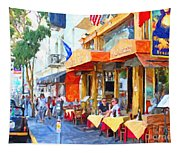 San Francisco North Beach Outdoor Dining Tapestry