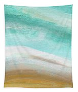 Sand And Saltwater- Abstract Art By Linda Woods Tapestry