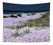 Sand Beach And Grass Tapestry