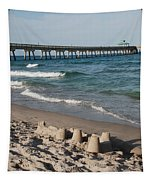 Sand Castles And Piers Tapestry